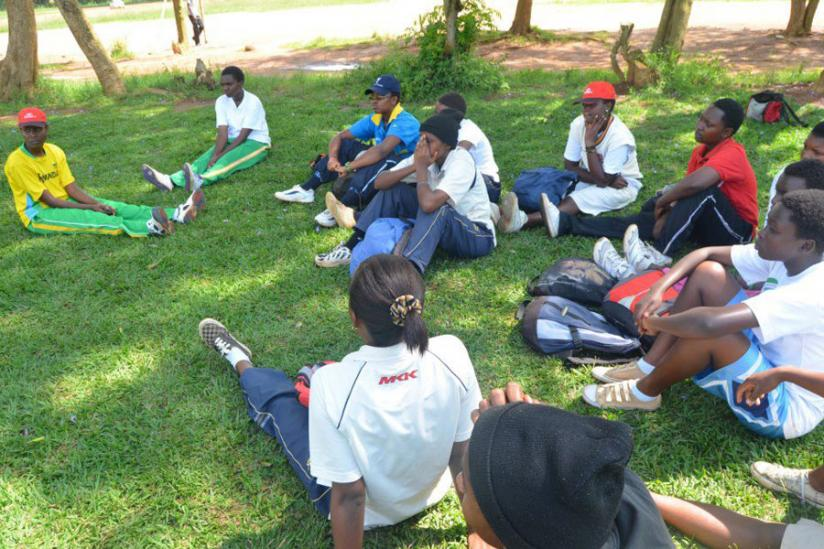 The National Cricket Women team, seen here after a training session, will need to put in an impressive performance to beat  a determined Tanzania team that is keen not to lose on home turf. (Courtesy)