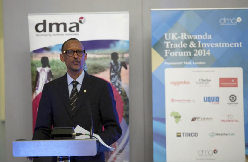 President Paul Kagame addressed more than 400 business leaders at the Rwanda-UK Business Forum in London (Urugwiro Village)