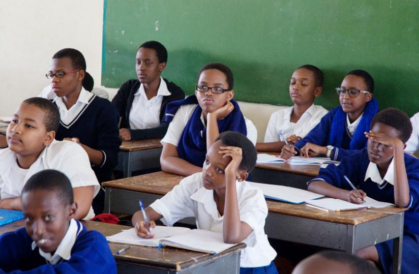 Students attend class at IFAK School in Kigali earlier this year. (File)