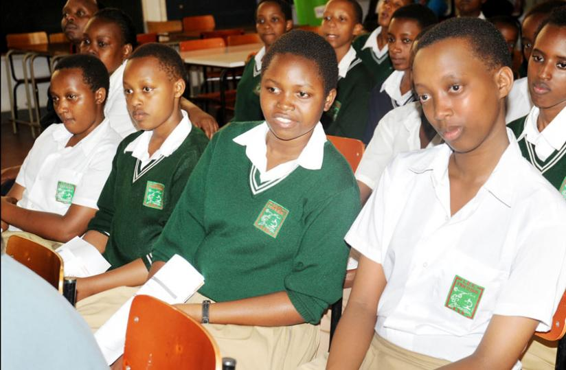 Students of Lycee de Kigali at a meeting last year. (File)