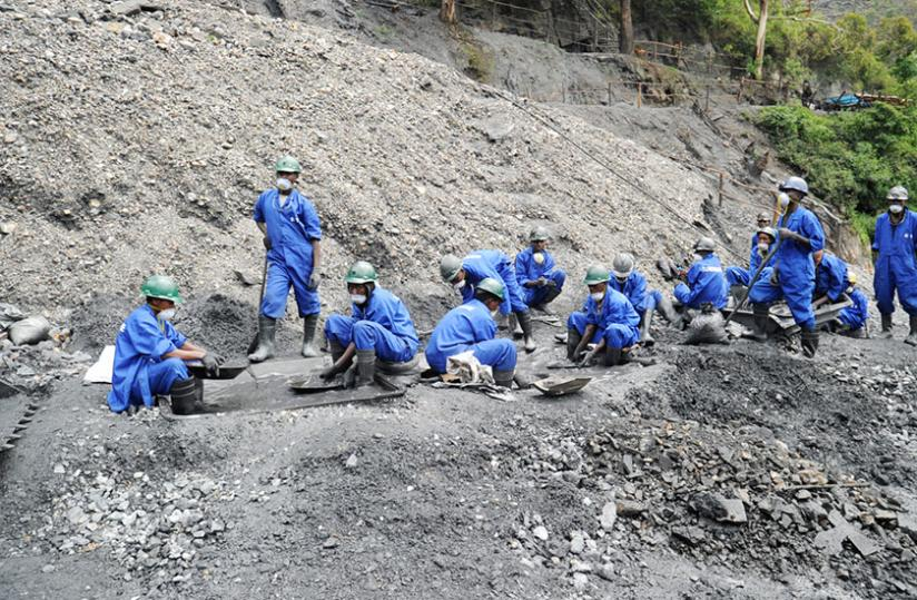 Miners at Nyakabingo in Rulindo District. (File)