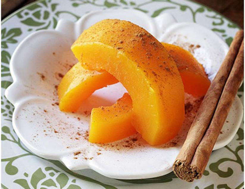 For an easy and delicious desert treat for guests, try out the pumpkin with cinnamon.