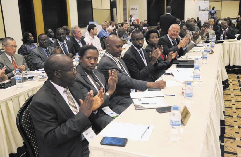 Participants at the Power and infrastructure investment forum in Kigali on Monday. (John Mbanda)