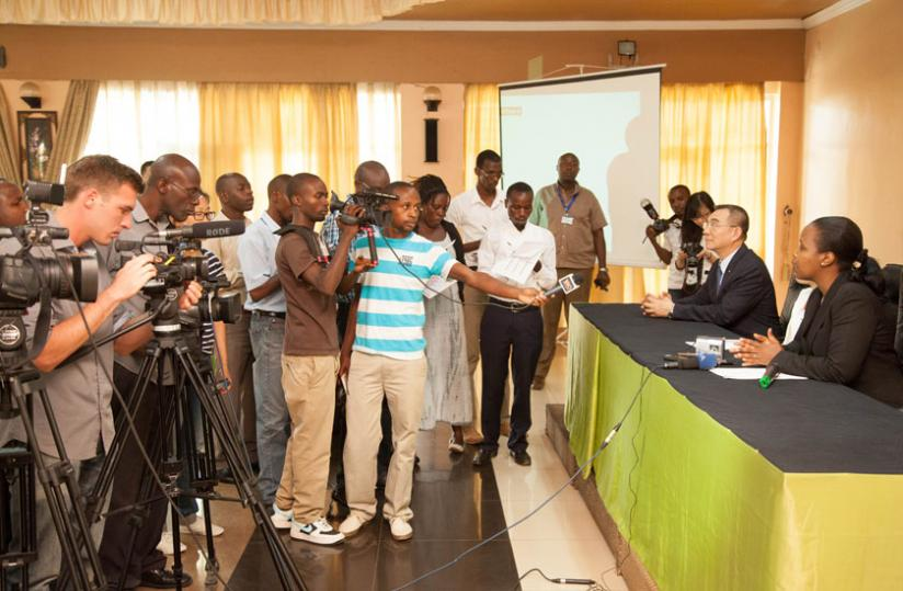 Journalists cover a media briefing. The fraternity will also benefit from the portal. (File)
