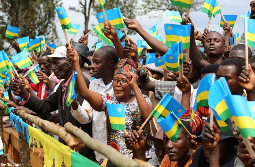 Residents of Kirehe District welcome President Kagame during his visit there in November last year. (Village Urugwiro)