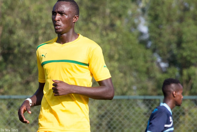 Former APR striker Ernest Sugira scored AS Kigali's first goal in the 2-0 win over Musanze on Saturday to go top of the league table standing. (Timothy Kisambira)