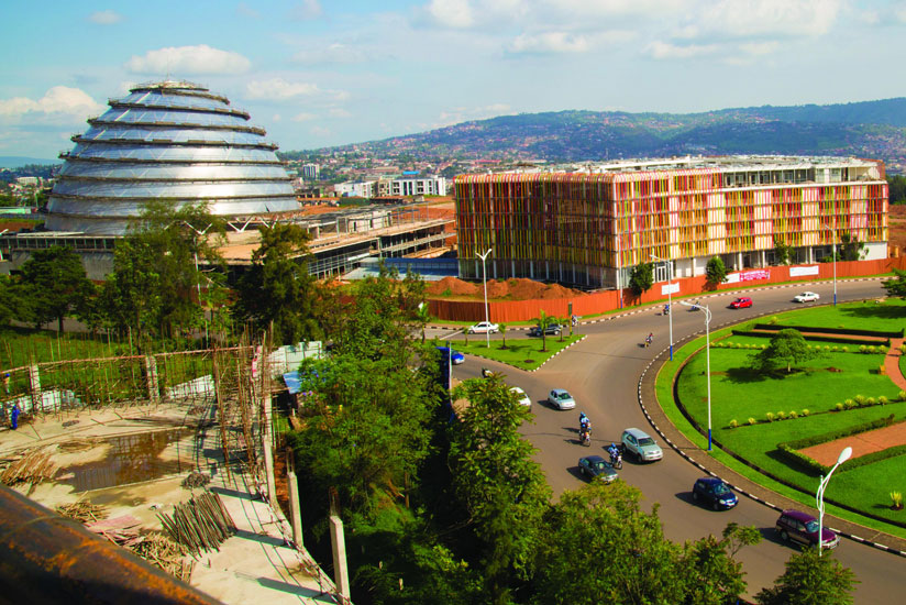 Government has turned to capital markets to raise funds to finance key development projects like the Kigali Convetion Centre, currently under construction. (File)