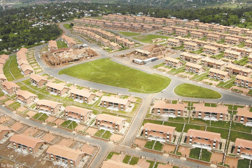 A housing estate in Kigali. Local governments have been challenged to ensure housing projects  meet urbanisation plan. (File)