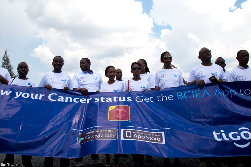 "A group of men and women during the peaceful ""Ulinzi Walk"" last year that was dedicated to highlighting the importance of going for cancer checkup. (File)"