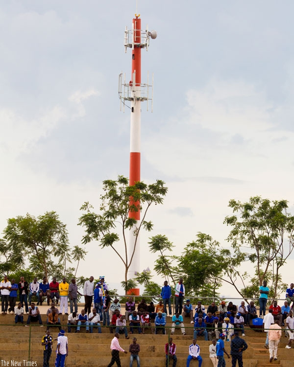 A mast at Nyamirambo. The ICT minister has assured citizens that living near telecom masts does not pose a risk to their health.(File)