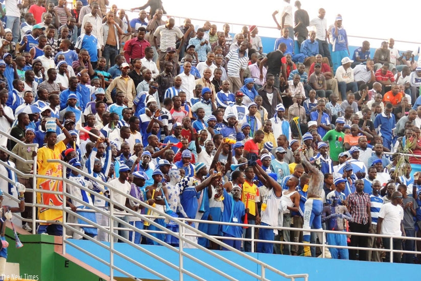 Rayon Sports fans always turn up in big number to support their team. (File photo)