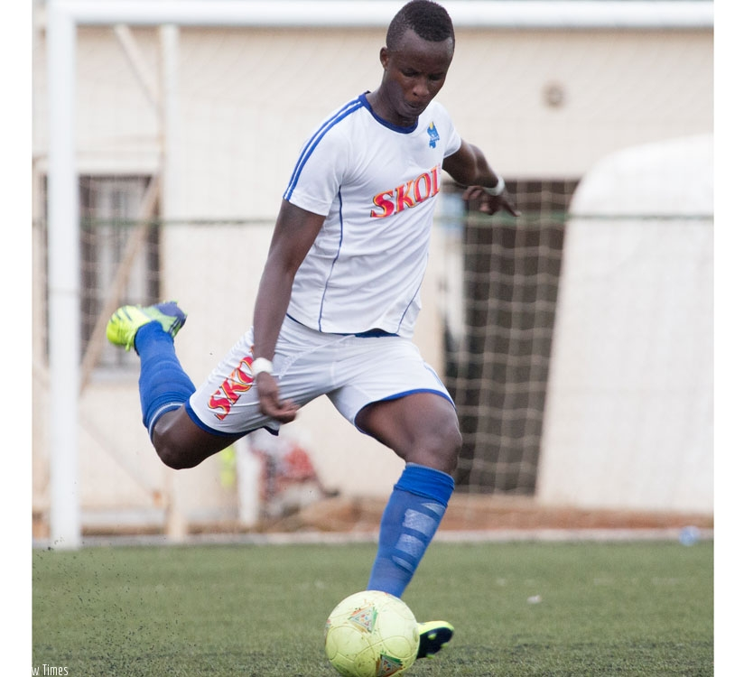 Faustin Usengimana has established himself as a key figure in the Rayon Sports team. (T. Kisambira)
