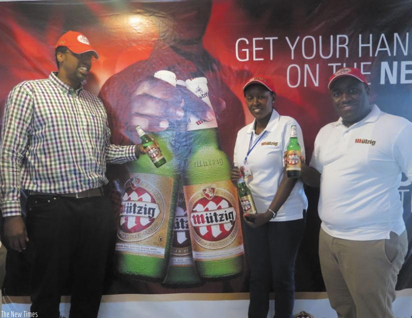 Bralirwa launched a new medium-sized bottle of Mutzig beer as part of the strategies to strengthen its market position. (Peterson Tumwebaze)