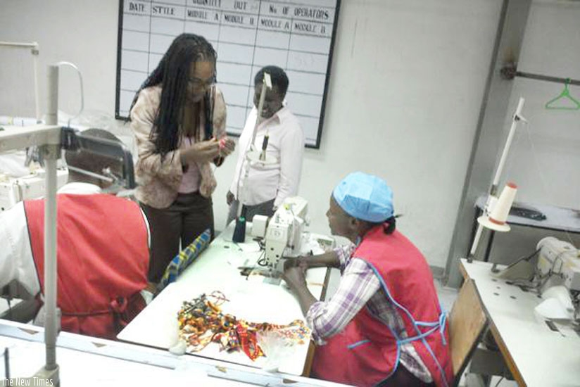 Akinyi (2nd from left) with some of her workers. (Courtesy)