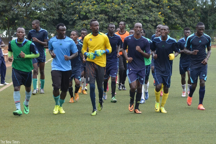 Police FC players warning up during a training session at Kicukiro stadium. (File)