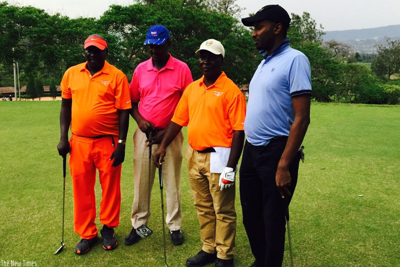 Members of Kigali Golf Club together with their Nigerian counterparts on Wednesday. (Courtesy)