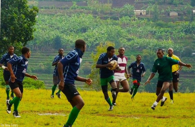 TTC Mururu playing against Nyanza Technical School in a recent friendly.The  students team will play as Resilience RFC in the league. (S Kalimba)