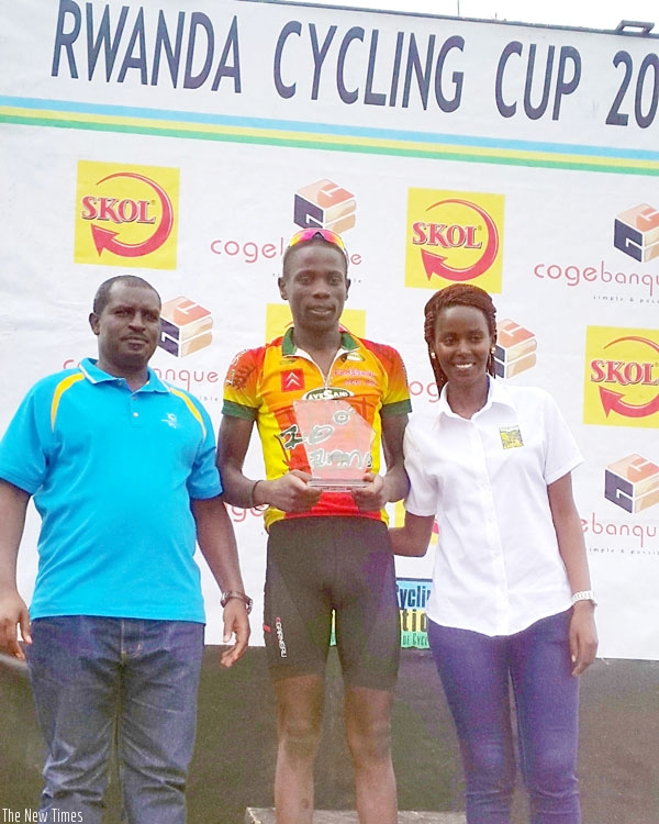 Nsengimana emerged overall winner and the best U-23 rider of the Rwanda Cycling Cup that ended yesterday. (Usher Komugisha)