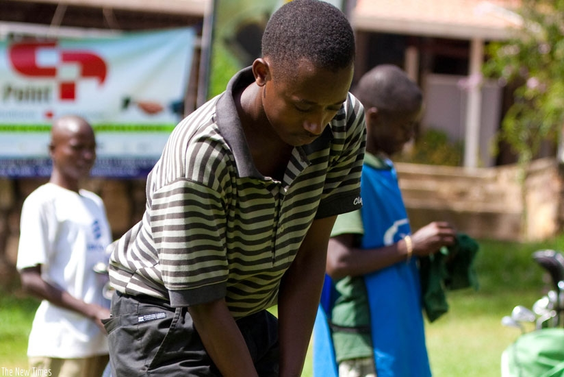 Aphrodis Nyirinkwaya, the top-ranked amateur golfer in Rwanda. (File)