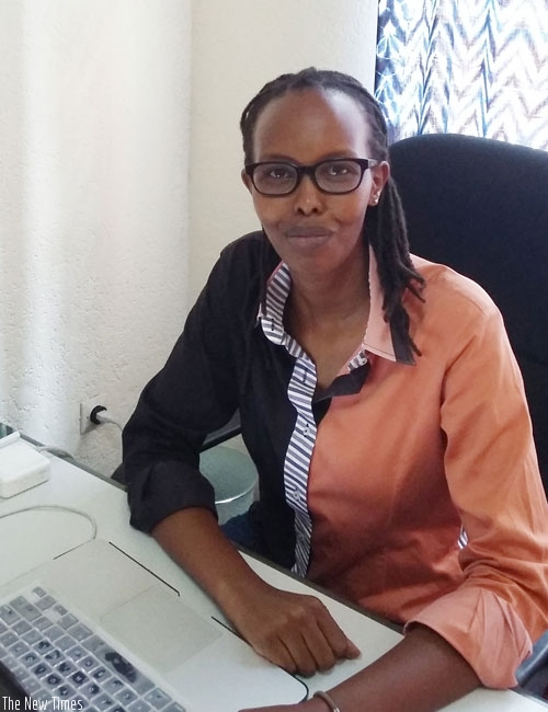 Rosine Urugeni  during the interview at her office in Kacyiru. (S. Kantengwa)
