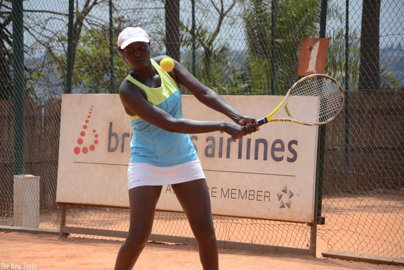 Rwanda's women number one Megane Ingabire is looking to win her first Uganda Open title. (S. Ngendahimana)