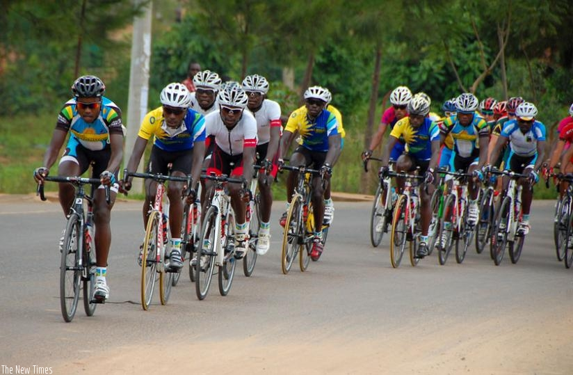 Team Rwanda riders during a race recently. The Cyclists demanded to be paid before they can prepare for Tour du Rwanda. (File)