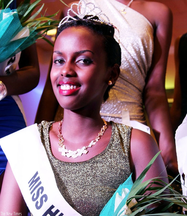 Irebe on the night she was crowned Miss High School. (Courtesy photo)
