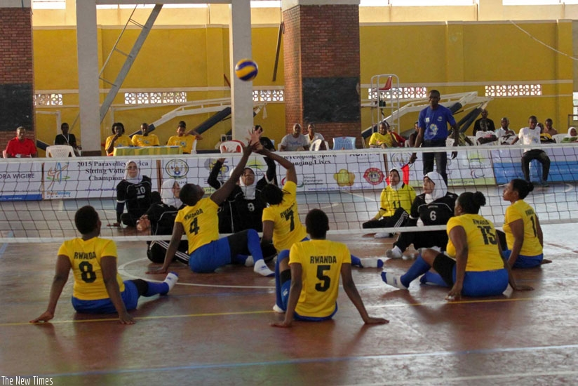 Rwanda women's sitting volleyball team beat Egypt (above) to qualify for Rio 2016 Paralympic Games. (File)