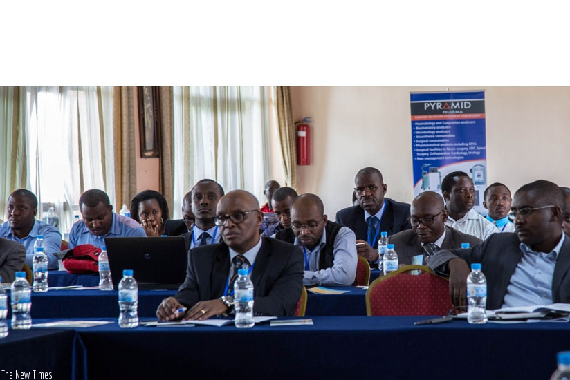 A cross section of some of the surgeons during the Annual Scientific Conference for Rwanda Surgical Society in Kigali on Saturday. (All photos by Doreen Umutesi)