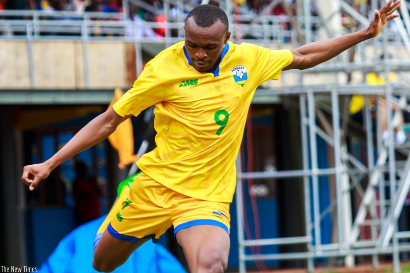 Jacques Tuyisenge has scored three of Amavubi Stars' five goals at the ongoing CECAFA Senior Challenge Cup in Ethiopia. (Timothy Kisambira)
