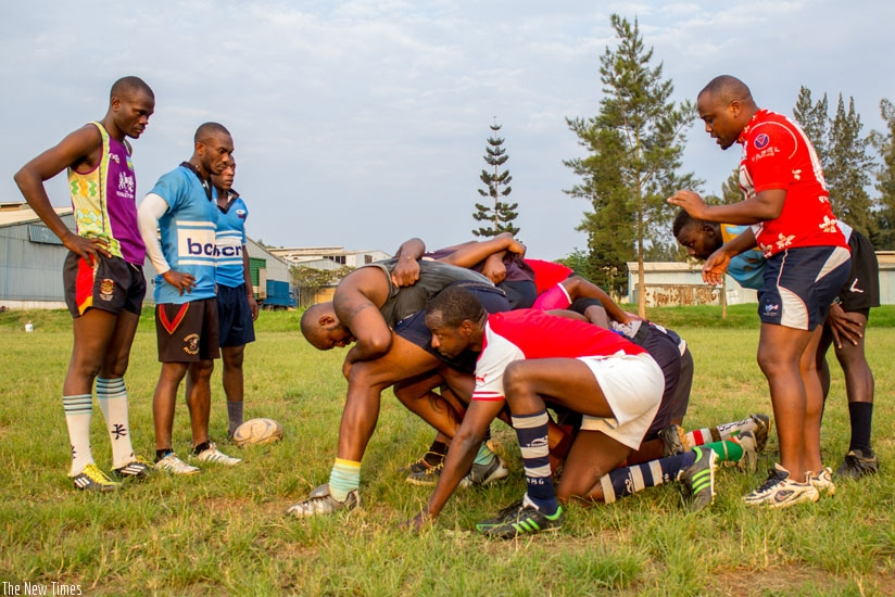 The Silverbacks during a previous training session. Rwanda has a chance to improve with the full World Rugby membership.  (File photo)