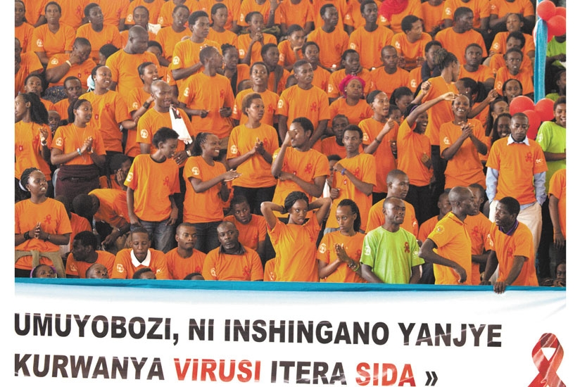 Youth attend a World AIDS Day function (File)