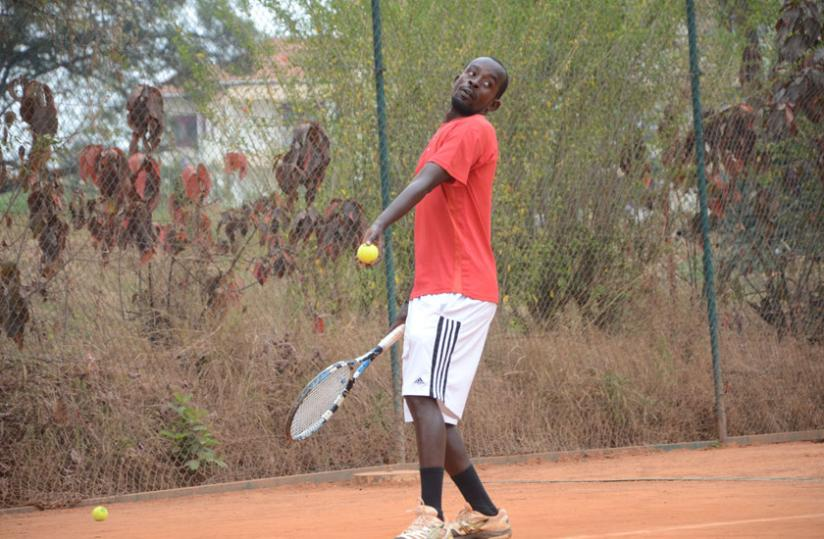 Habiyambere beat second seed Olivier Havugimana in three sets to win the men's singles title. (S. Ngendahimana)