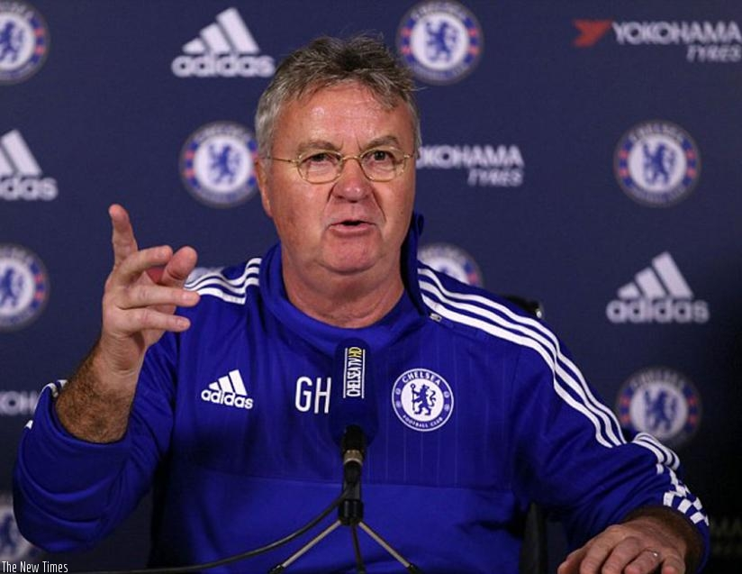 Chelsea's interim manager Guus Hiddink. (Net photo)