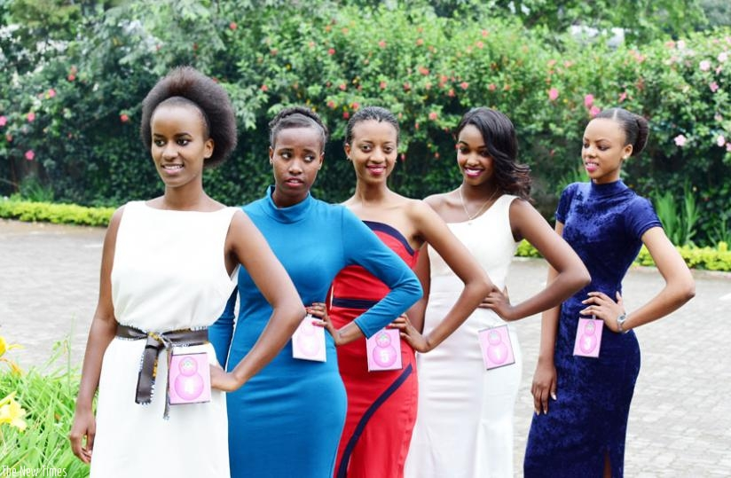 Rubavu District's Miss Rwanda 2016 representatives after auditions last weekend. (File)