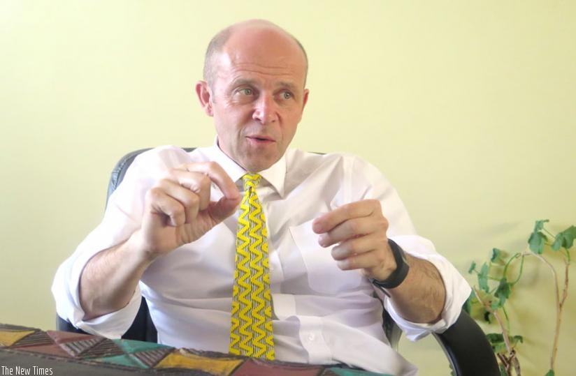 Prof. Cotton during the interview with. (Solomon Asaba)