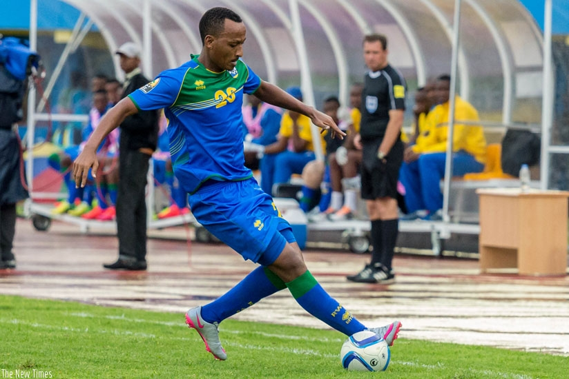 Ngomirakiza sustained a knee injury in the final Group A game against Morocco in which he scored the consolation goal as Amavubi lost 4-1. (Timothy Kisambira)