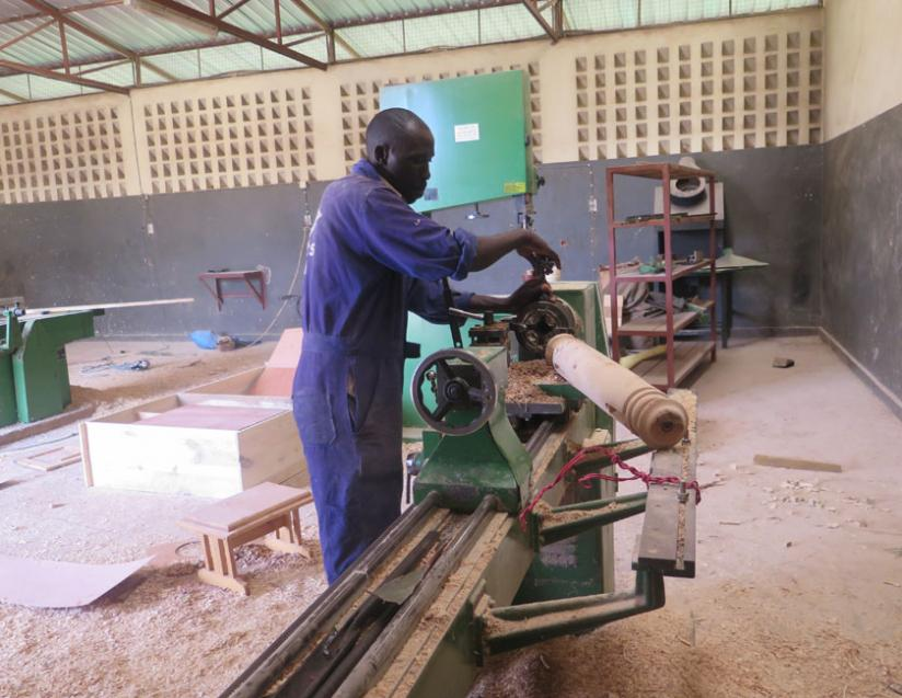 Promoting innovation: Cleophas Habiyaremye from Kayonza District makes furniture using banana trees as raw material. It is important to support such creative people to spur Africa's growth. (File)