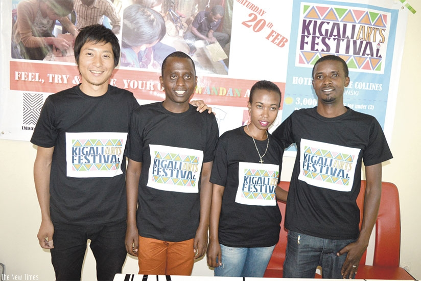 The organizing team during press conference yesterday. (Stephen Kalimba)