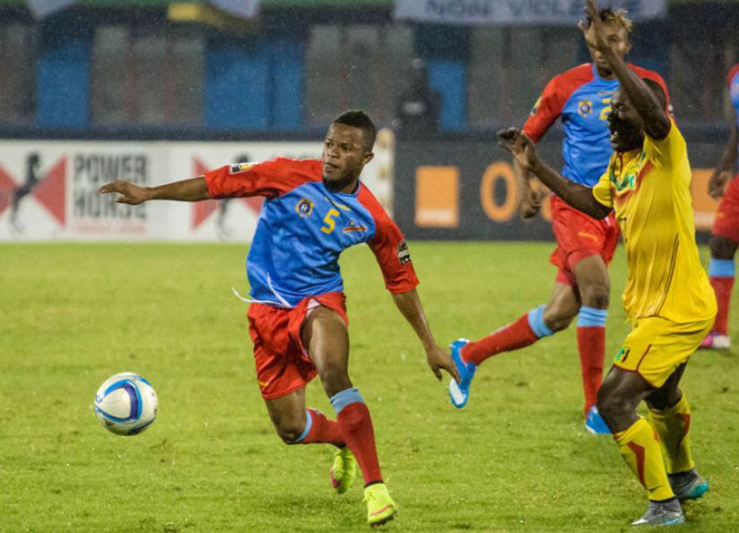 Elia Mechak ( L) netted a brace as DR Congo thrashed Mali 3-0 in the final at Amahoro National Stadium in Kigali to win CHAN 2016 title on Sunday. (T. Kisambira)