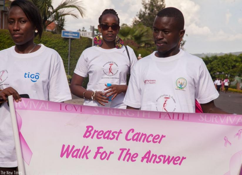 Youth during the cancer awareness walk in 2014. (File)