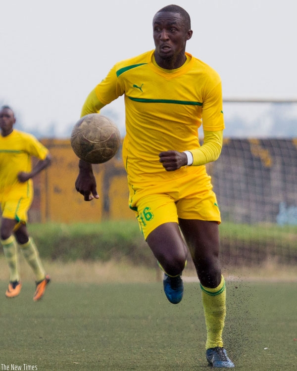 AS Kigali striker Ernest Sugira is the league second top scorer with five goals in nine matches. (T. Kisambira)