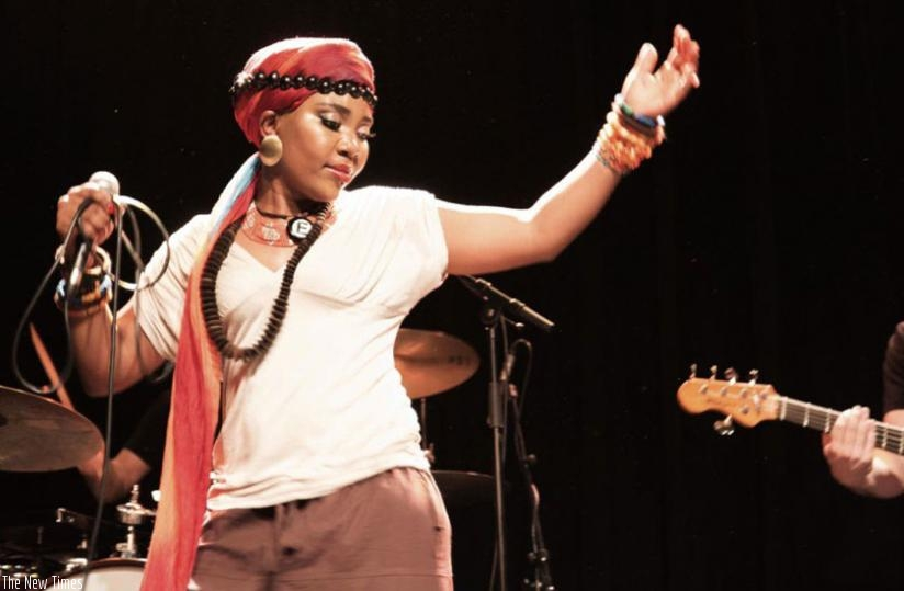 Yvonne Mwale performs at a past concert. She says she is keen on coming back to Rwanda. (Courtesy)