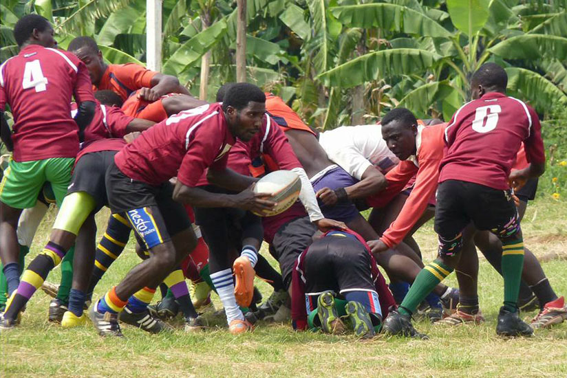 Resilience's scrumhalf Samuel Nirere in action during their win over Muhanga last weekend.  (Courtesy)