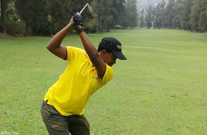 After nine years as an amateur, Jules Mutesa Dusabe has become the fifth Rwandan golfer to turn professional. (Courtesy)