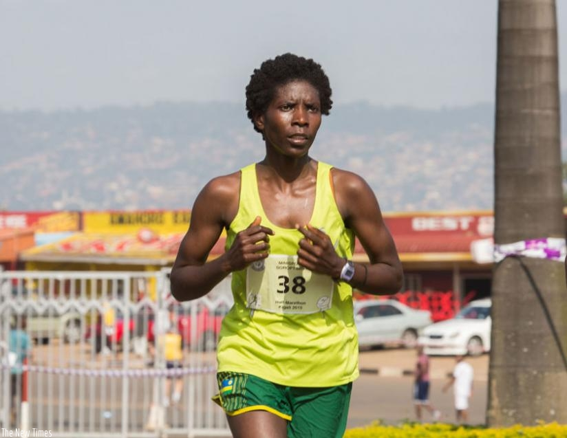 Claudette Mukasakindi competed in the marathon at the 2012 London Olympics. (File)