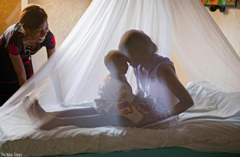 Proper use of mosquito nets is effective in preventing malaria. (Net photo)