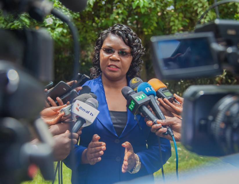 1461620881Minister-of-Public-Sector-and-Labour-Judith-Uwizeye-speaks-to-the-media-after-the-launch-yesterday