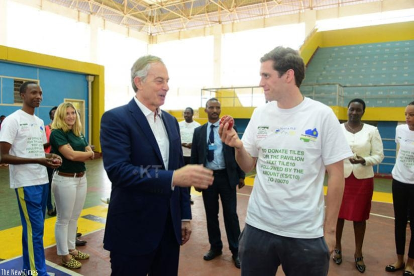 Tony Blair was also at Amahoro indoor stadium to support Dusingizimana.