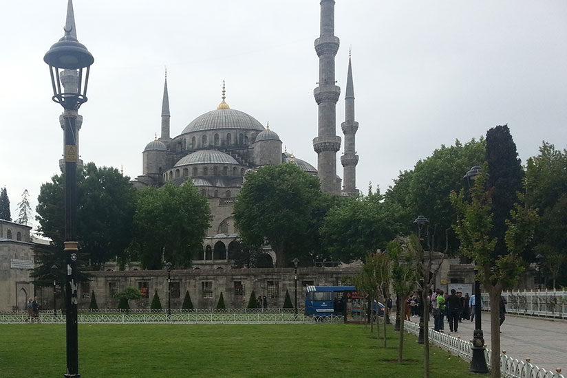 The famous Blue Mosque built from 1609. (Allan Brian Ssenyonga)